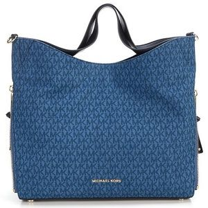Michael Kors $378 Shoulder Tote Bag DEVON Denim